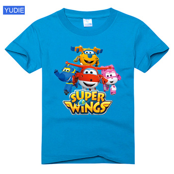 kids t shirt Super Wings t shirt Airplane Boys New Summer Children Short Sleeves T-Shirts Girls Clothes baby tees toddler tshirt