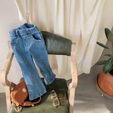 Jeans Loudspeaker-Pants Baby-Girls Korean Children New Wear Stretch Micro