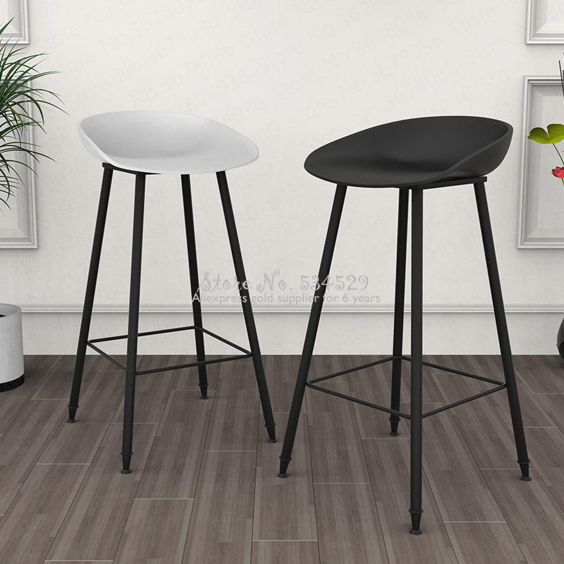 21%New Nordic Bar Stool European Modern Minimalist Home Gold Wrought Iron Stool Creative Bar Chair High Chair