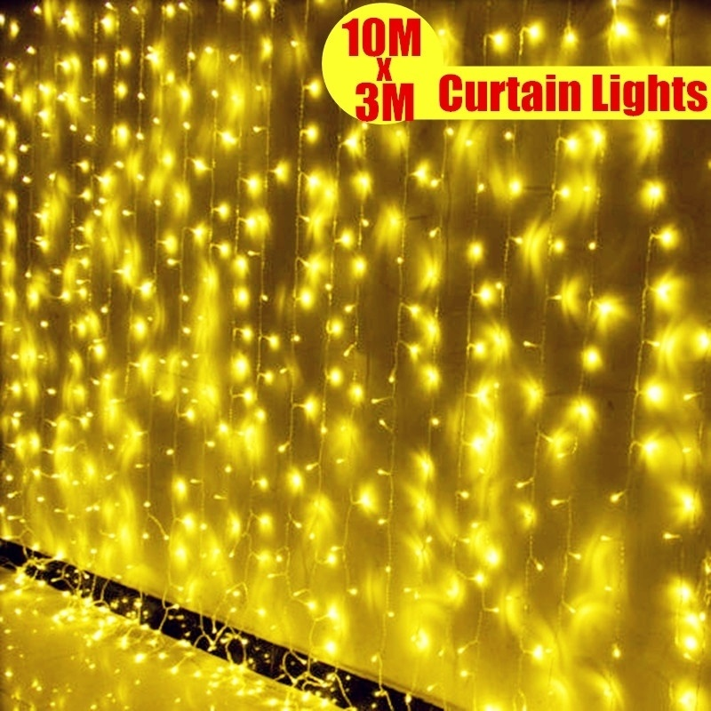 AU PLug 3x10M Led Curtain Fairy String Light Holiday Light 1000 led Christmas Light for Wedding Home Garden Party Decoration