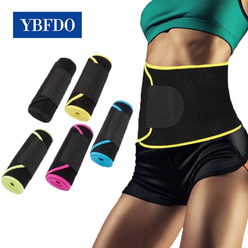 YBFDO 2021 Новый женский регулируемый пояс для фитнеса впитывающий пот дышащий спортивный пояс для коррекции фигуры сжигающий жир ортопедическ...