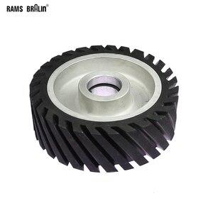 Image 1 - 150*50Mm Diagonaal Rubber Contact Wiel Bandslijpmachine Wiel Schuurband Set