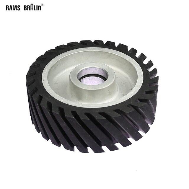 150*50Mm Diagonaal Rubber Contact Wiel Bandslijpmachine Wiel Schuurband Set