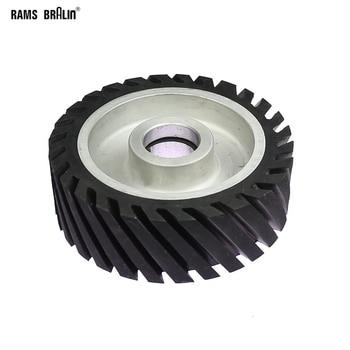 150*50mm Diagonal Gummi Kontaktieren rad Gürtel Grinder Rad Schleif Gürtel Set