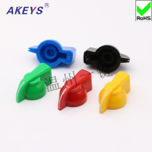 цены 5PCS KN-8 potentiometer bakelite plastic color knob potentiometer rotary switch volume adjustment knob cap