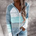 40 # женский свитер; Повседневная одежда в стиле пэчворк; Одежда с длинным рукавом, с капюшоном, в стиле «пэчворк свитер кардиган с перфорацие...