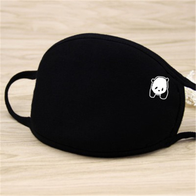 Black Windproof Face Masks Anti-Dust Cycling Respirator Cotton mouth Face Mask Proof Flu Face Masks Lovely Cat Mouth Mask Muffle 3