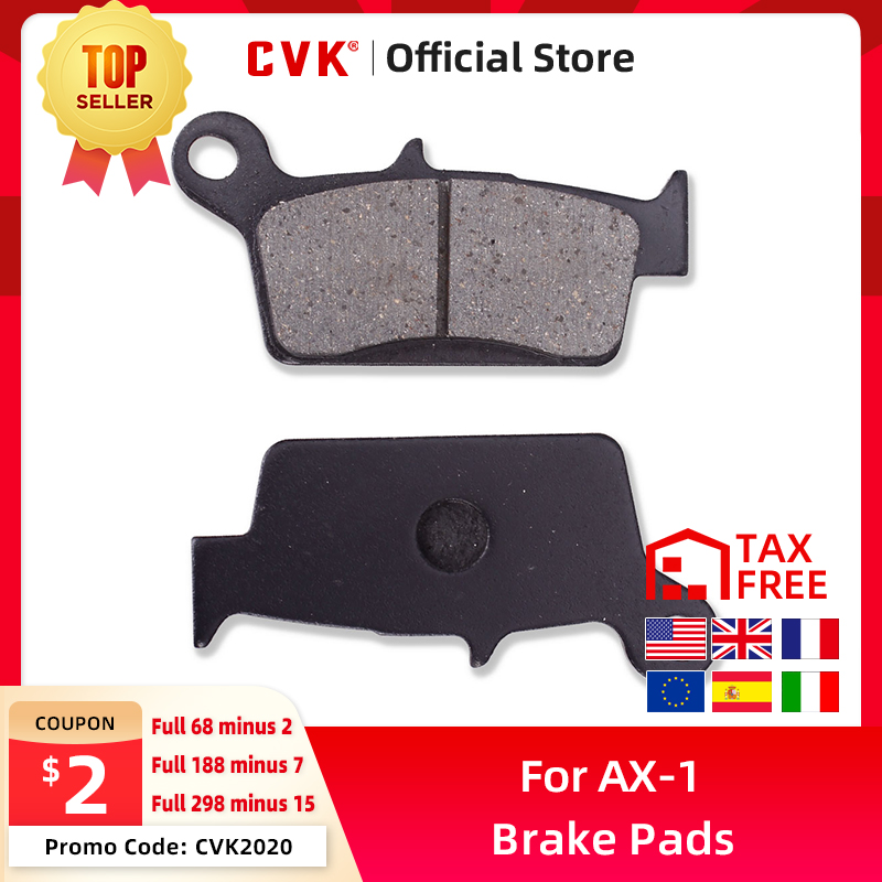 CVK High Quality Rear Brake Pads Disks Shoes For <font><b>Honda</b></font> AX-1 250 NX250 CRM250 CRM250R XLR250R <font><b>XLR250</b></font> Baja MK2 (MD22) new image