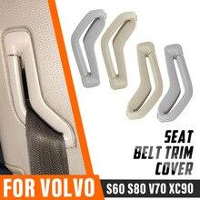 Левый и правый спереди натяжитель ремня безопасности направляющее кольцо пояс селектор ворота ремня безопасности Накладка для Volvo S60 S80 V70 ...