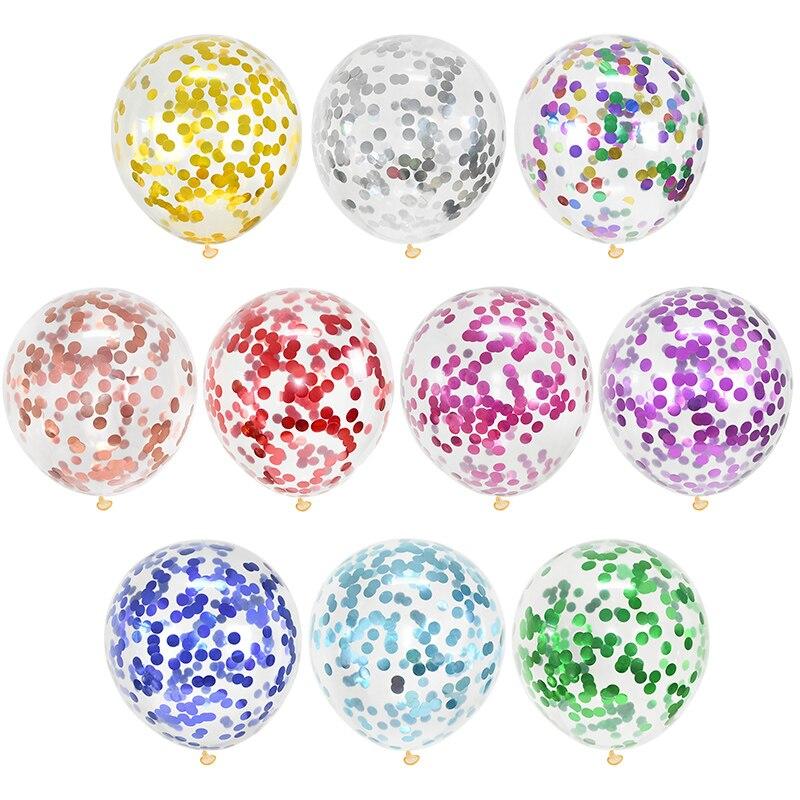 10 pçs 12 polegada misturados confetes látex balões decoração de natal do casamento chá de fraldas festa de aniversário decoração balões de ar globos
