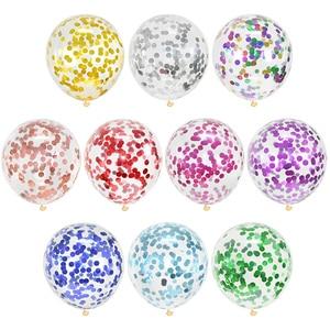 10 шт 12 дюймов Смешанные конфетти латексные шары Свадебные Рождественские украшения детский душ вечерние воздушные шары для дня рождения