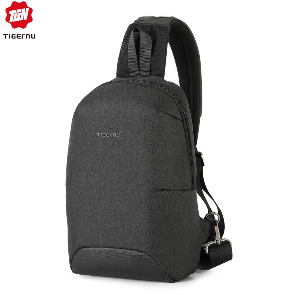 2020 New Tigernu RFID Anti Theft Crossbody Bags Waterproof Men Light Weight Sling Bags Chest Bags Fashion High Quality Zippers