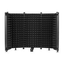 Écran portatif de vent de couverture pliable d'absorbeur de son d'angle réglable de bouclier d'isolement de Microphone