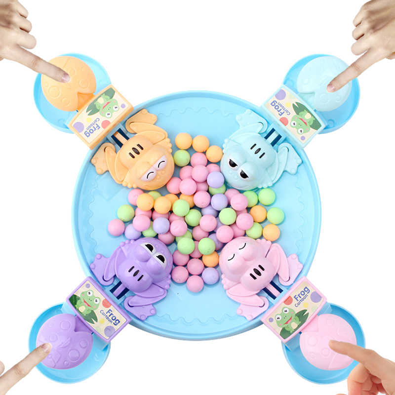Hungry Frog Eating Beans Kids Board Strategy Games Toy Family Competitive Interactive Stress Relief Toy Interesting Games Gifts