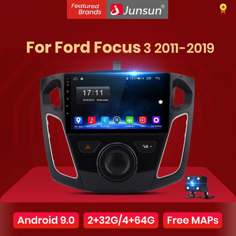 Junsun V1 reproductor Multimedia de vídeo para coche con Radio DSP 2G + 32G Android 9,0 para Ford Focus 3 2011-2019, navegación GPS y 2Din autoradio