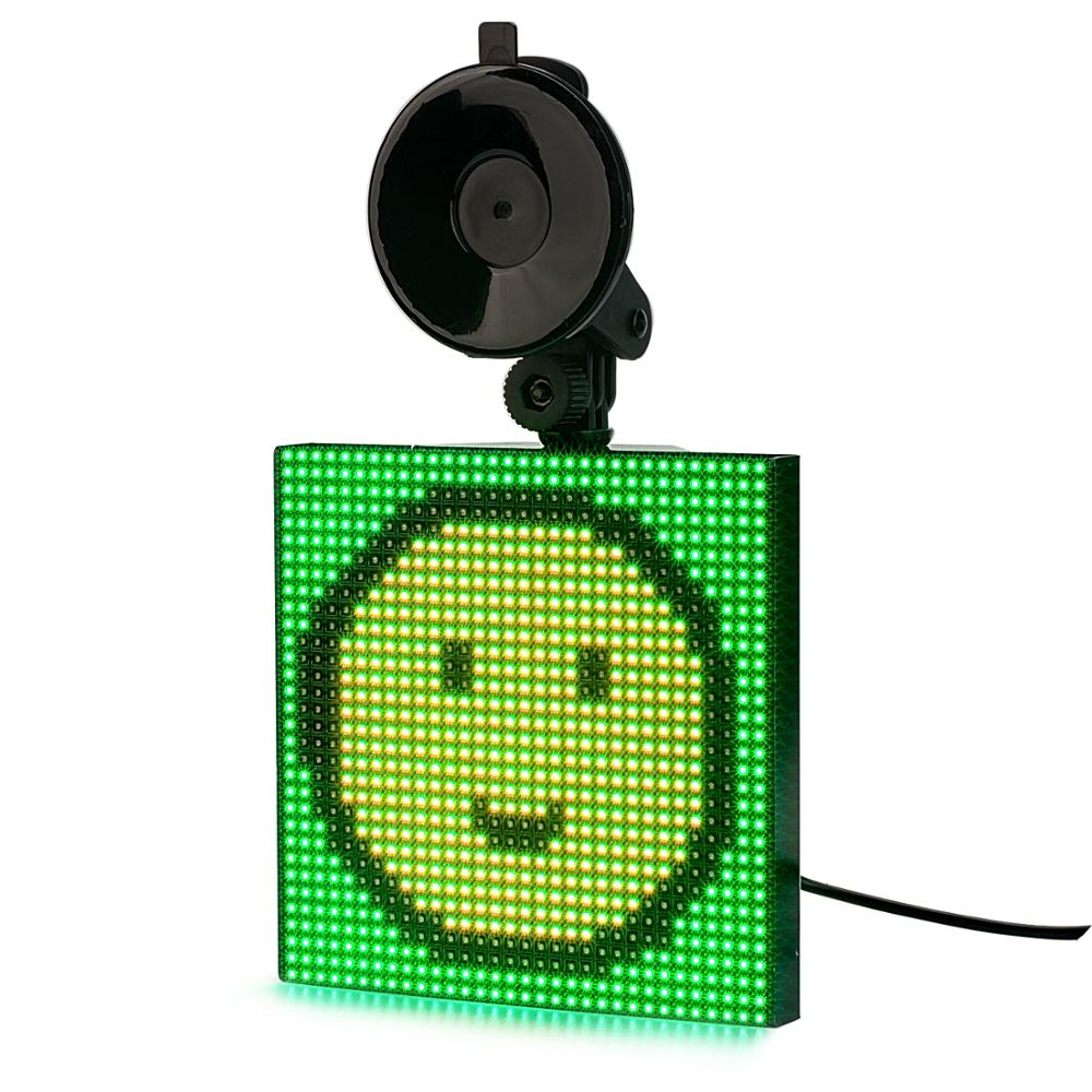 12V Bluetooth CAR Led Sign Mood Animation APP Control RGB Programmable Scrolling Message LED Display Board Dropshipping