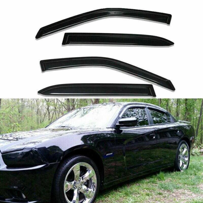 Smoke Window Visor Sun Rain Wind Guard Vent Shade 2011-2020 For  Dodge Charger