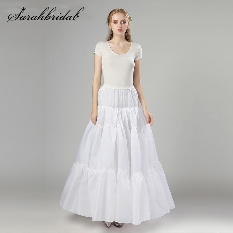 In Stock White Long Style Petticoat Nylon Organza Halloween Real Photos Fast Shipping Tutu Wedding Cosplay Underskirt Slip 12006