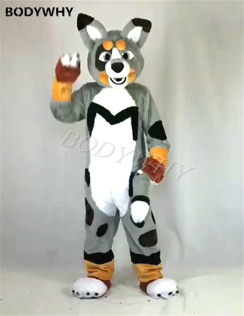 Luxury Long Fur Husky Fox Dog Fursuit Mascot Furry Costume Cosplay Party Dress Birthday Party Fursuit Carnival Halloween Xmas Mascot Aliexpress