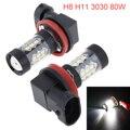 2 pçs h11 h8 80 w led canbus 16smd lâmpadas branco 6000 k apto para bmw 325 328 335i e90 luz de nevoeiro substituição lâmpadas led