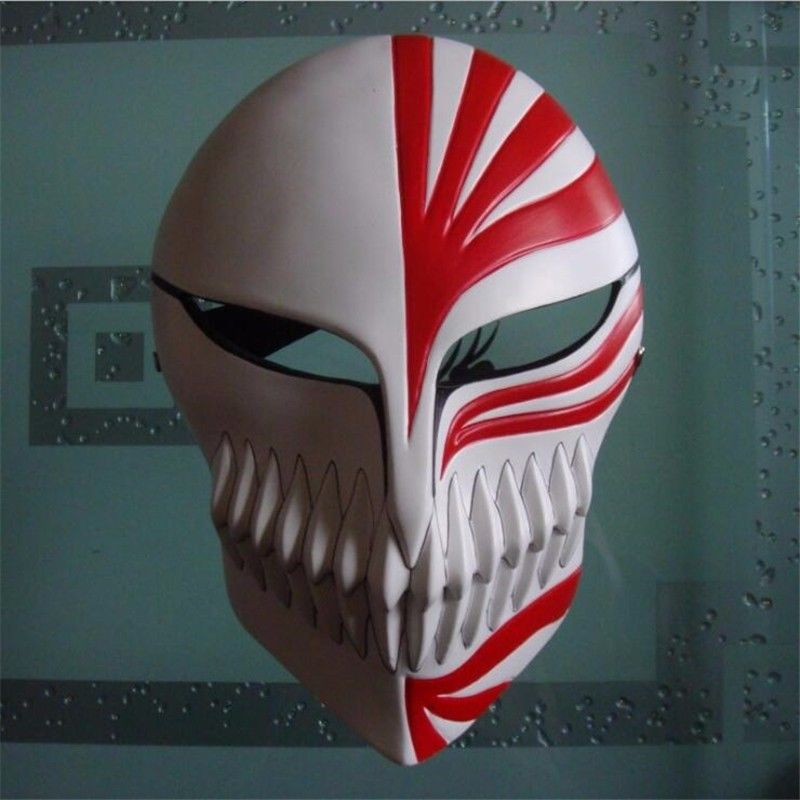High Quality Bleach Ichigo Kurosaki Hollow Mask Halloween Mask Cosplay Props Costume Accessory in Boys Costume Accessories from Novelty Special Use