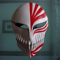 High Quality Bleach Ichigo Kurosaki Hollow Mask Halloween Mask Cosplay Props Costume Accessory