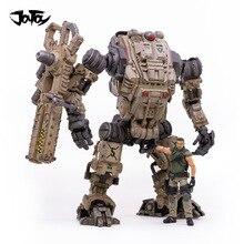 (2 ชิ้น/ล็อต) JOYTOY 1:18 ฟรีMECHA Robot/ทหารรูปหุ่นยนต์ทหารปีใหม่ของขวัญจัดส่งฟรี