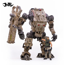 (2pcs/lot) JOYTOY 1:18 FREE MECHA robot /soldiers figure Military robot New Years gift  Free Shipping
