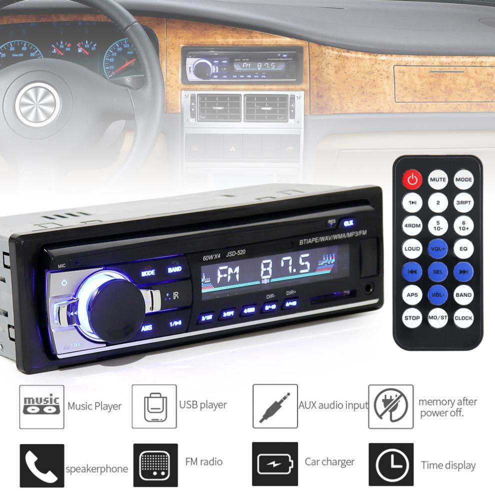 Universal JSD-520 In-Dash 12V Multifunktionale <font><b>Bluetooth</b></font> Auto Radio FM Aux Input Stereo MP3 Audio Player mit USB SD ISO Port image