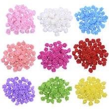 100 шт мини pe поролоновые головки роз Искусственные Шелковые
