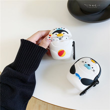 For AirPod 2 Case 3D Lovely Penguin Seals Cartoon Soft Silicone Wireless Earphone Cases Apple Airpods Cute Cover Funda