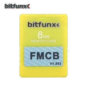Image 2 - Bitfunx וידאו משחק זיכרון כרטיס V1.953 8MB/16MB/32MB/64MB משלוח McBoot FMCB עבור Playstation2 PS2 ססגוני