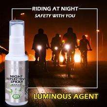 Украшение автомобиля знак спрей ночной светоотражающий спрей бегущий велосипед флуоресцентная краска анти авария знак безопасности наружные инструменты YL5