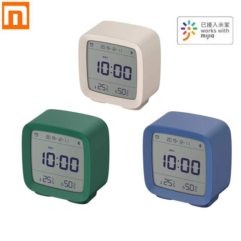 Xiaomi ClearGrass Bluetooth Digital Thermometer Temperature And Humidity Monitoring Alarm Clock Night Light 3 In 1 Smart Home