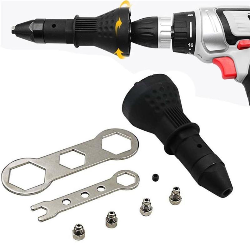 Electric Rivet Nut Gun Riveting Tool Cordless Riveting Drill Adaptor Insert Nut Tool Multifunction Nail Gun Auto Rivet TP-055