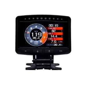 Image 1 - Cxat A208 多機能スマート車 obd hud デジタルメータースピードメーター燃料消費ゲージ故障コードアラーム表示