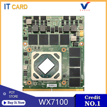 Original FirePro WX7100 8GB With X-Bracket Video Graphics Card 109-C95847-00C For Dell