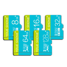Classe de vitesse 10 carte Micro SD 128GB 64GB 32GB 16GB carte mémoire 8GB Flash TF cartes UHS-I mémoire SDHC SDXC pour Smartphone/tablette(China)