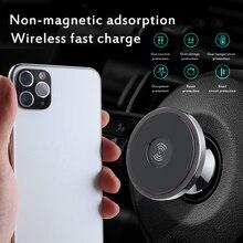새로운 10W 빠른 무선 충전기 자동차 스탠드 나노 붙여 넣기 대시 보드 휴대 전화 홀더 공기 콘센트 탐색 무선 충전 홀더