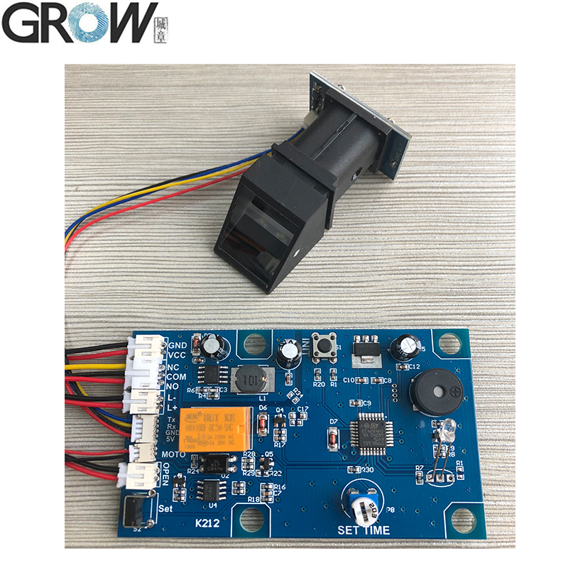 GROW K212+R305 Switch Power Supply Fingerprint Control Board Door System +R305 Fingerprint Access Control