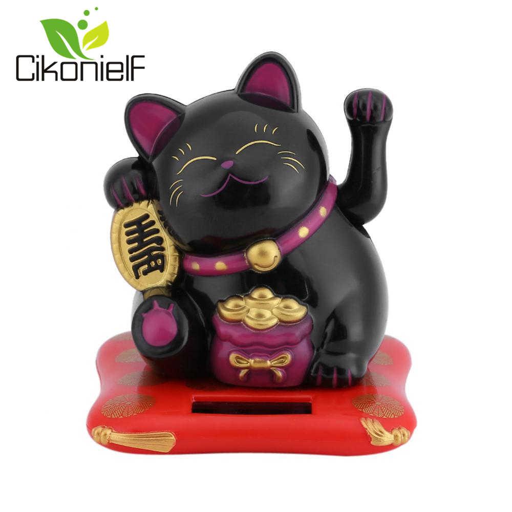 Домашний Автомобиль приветствовать Fortune Cat встряхивания ручной Lucky Cat оформить заказ украшение для прилавка, развевающиеся Декор для дома, с изображением кота аксессуары современный