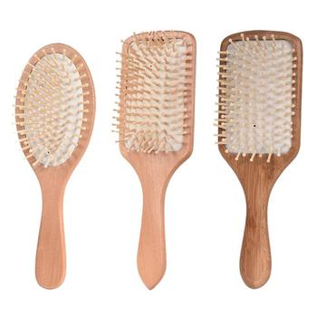 Wood Comb Extremely Elastic Soft Air Sac Orifice Professional Healthy Paddle Cushion Massage Hairbrush Scalp Hair Care 3