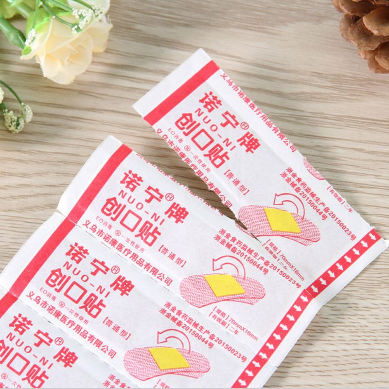 50Pcs Disposable Waterproof Adhesive Bandage First Aid Breathable First Aid Kit Medical Hemostatic Stickers Kids Children Adult