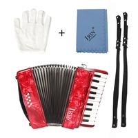 Mounchain 22 Keys 8 Bass Accordion Musical Instrument Rhythm Band for Beginner Children