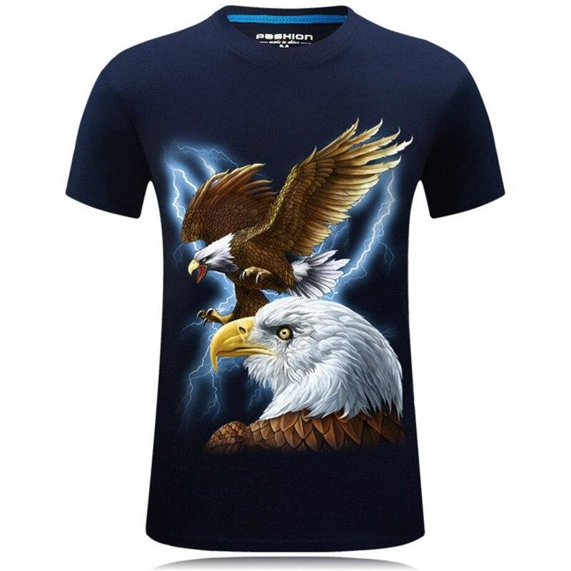 Belle mode d'été 3D T shirts drôles hommes Animal imprimé coton à manches courtes col rond T shirts Punk mâle hauts T shirts Camisetas 7XL - 2