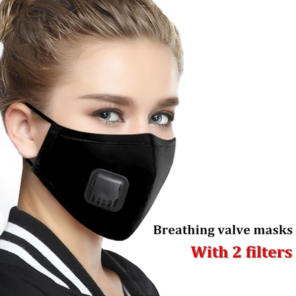 Anti Pollution Mask Mask N95 Respirator Dust Mask PM2.5 5 Layers Washable Cotton Mouth Masks With Replaceable Filter