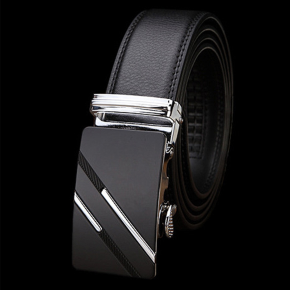 Automatic Buckle Classic PU Leather Business Non Slip Fashion Gift Waist Strap Adult Rustproof Simple Men Belt Casual Waistband