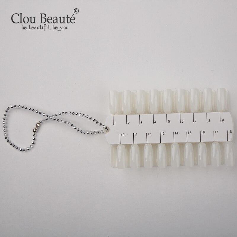 Clou Beaute 36 Color Gel Nail Polish Shelves Color Palette Card Manicure Fashion Double-side Nail Art Training Tools