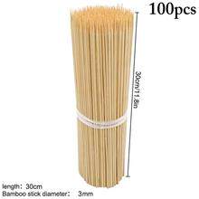 BBQ Skewers Meat-Tool Long-Sticks Wooden Bamboo Barbecue-Party Food Grill Camping Disposable