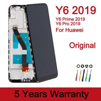 BYFLCD 100 nowy wyświetlacz Lcd dla Huawei Y6 2019 ekran dotykowy Y6 Pro 2019 ekran wymiana dla Huawei Y6 2019 Lcd tanie i dobre opinie NONE CN (pochodzenie) Ekran pojemnościowy 1520x720 3 Lcd For Huawei Y6 2019 Display LCD i ekran dotykowy Digitizer Black
